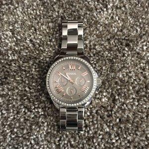 Fossil Stainless Steel Riley Glitz Watch